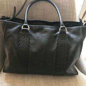 Aimee Kestenberg Milan Pebble Leather Tote EUC